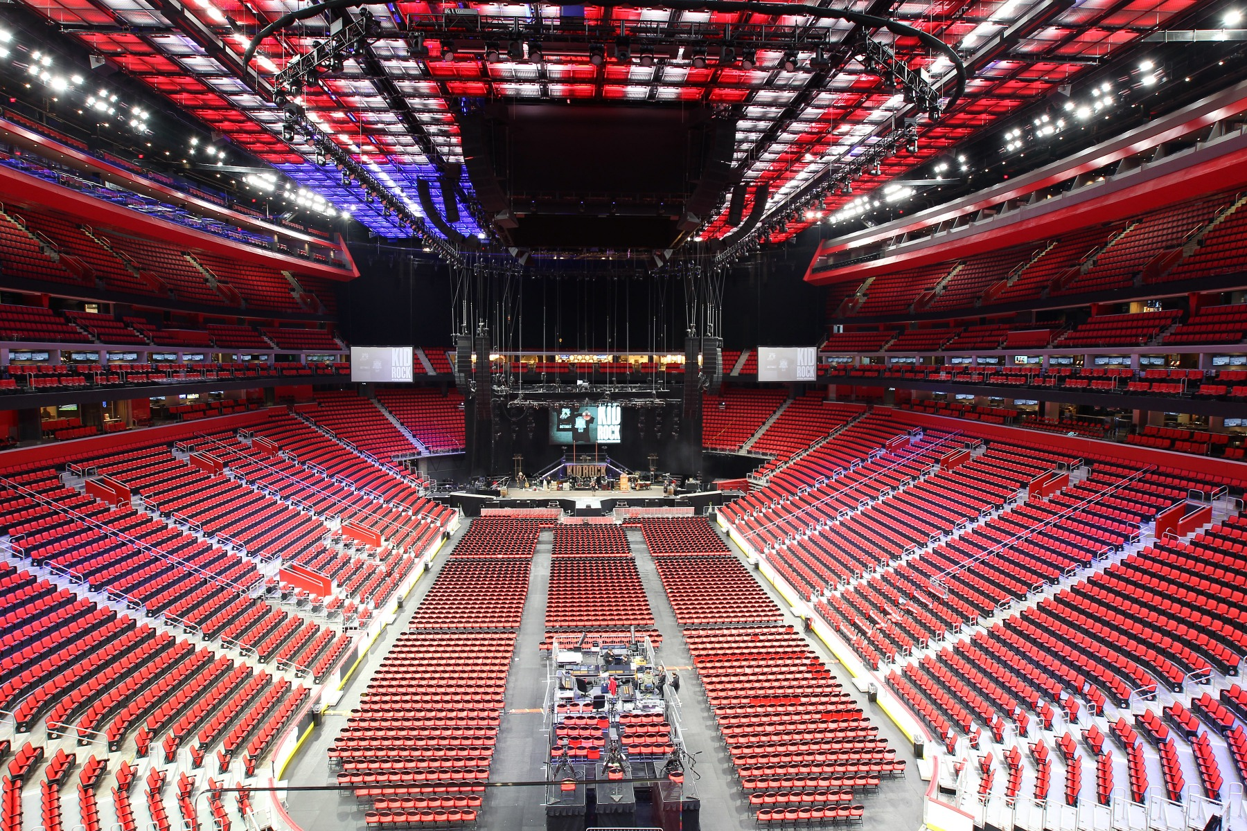 Little Caesars Arena And Elation Custom Light Ceiling In A