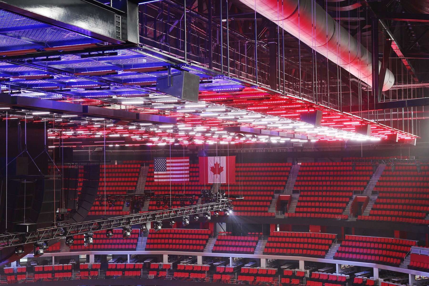 Little Caesars Arena and Elation Custom Light Ceiling in a Class by Itself