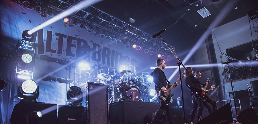 Elation Smarty™ ideal fit on Alter Bridge US tour