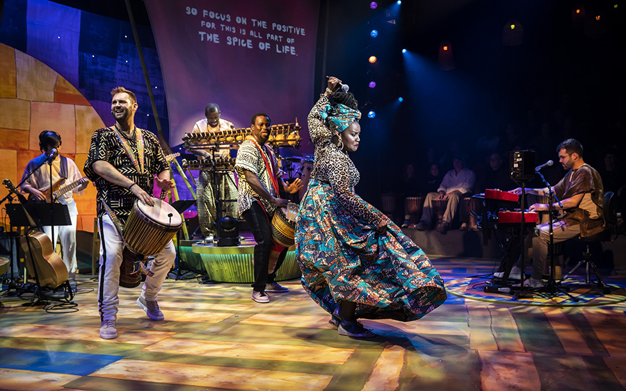 Djembe! The Show makes U.S. debut beneath all Elation lighting rig.