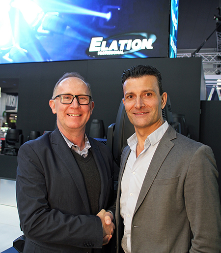 Eric Loader and Con Biviano - ULA Group New Elation Distributor in Australia and New Zealand