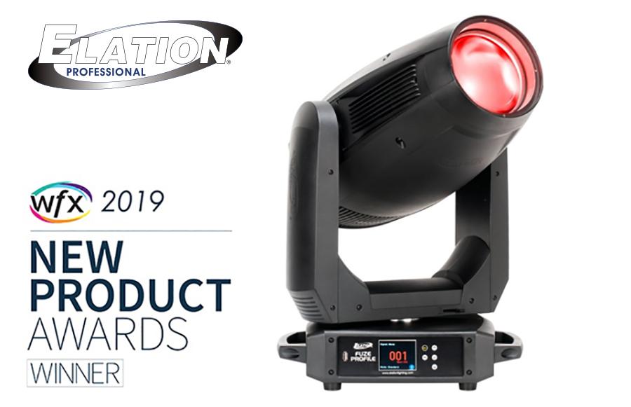 Elation Fuze Profile™ 2019 WFX New Product Award winner