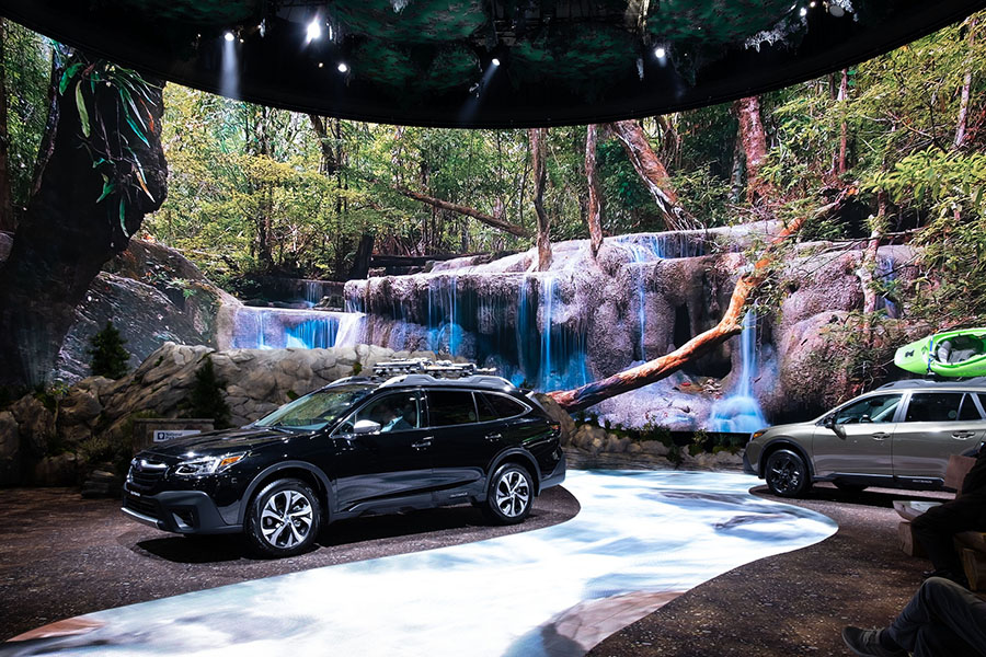 Lightswitch, 4Wall and Elation team up at 2019 LA Auto Show