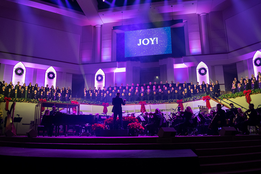 Huge LED retrofit at Olive Baptist Church includes Elation stage lighting
